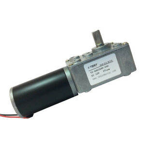 12vdc 27rpm Right Angle Gear Motor Small Worm Reducer Geared Motor Reversible