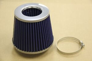 High Performance 3 Blue Inlet High Flow Short Ram Cold Intake Turbo Air Filter