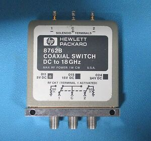 Hp Agilent 8762b Coaxial Switch Dc To 18 Ghz Spdt Option 011