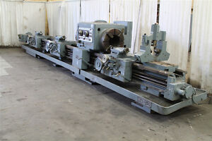 28 Swing X 96 240 Center Lodge Shipley Oil Field Engine Lathe 12 5 Hole