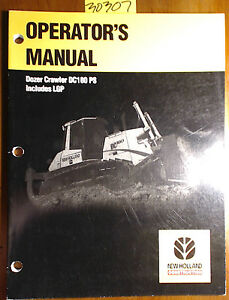 New Holland Dc180 Ps Lgp Dozer Crawler Owner s Operator s Manual 60400892 7 01