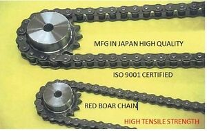100h 1r X 10ft Ocm Japanese Mfg Quality Heavy Riveted Roller Chain Long Life