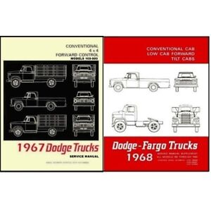 Factory Shop Service Manual Set For 1968 Dodge Trucks