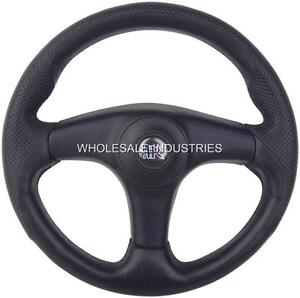 Apc Racing Steering Wheel Black 13 3 Spoke New Golf Cart Ranger Rhino Rzr Utv