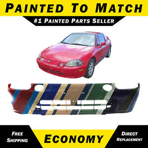 New Painted To Match Front Bumper Cover Replacement For 1993 1995 Honda Del Sol