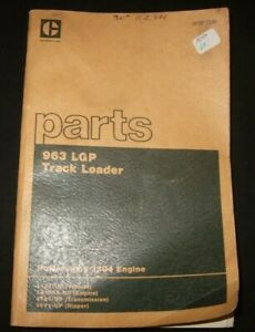 Cat Caterpillar 963 Lgp Track Loader Parts Manual S n 11z1 up