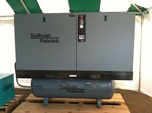 Americam Made 20hp Rotary Screw Air Compressor By Sullivan palatek