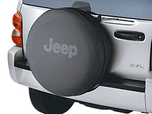 2002 2007 Jeep Liberty Anti theft Tire Cover Black Mopar Genuine Oem New