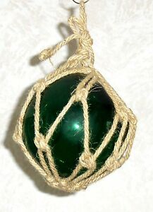 8 Green Glass Float For Fishing Net Buoy Nautical Decor Craft Decoration