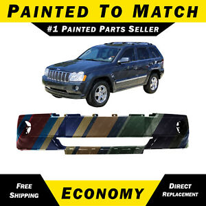 New Painted To Match Front Bumper Cover For 2005 2006 2007 Jeep Grand Cherokee