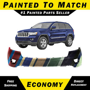 New Painted To Match Front Bumper Cover For 2011 2012 2013 Jeep Grand Cherokee