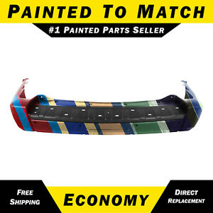 New Painted To Match Rear Bumper Cover For 2006 2008 Jeep Commander W Out Tow