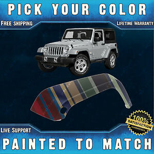 New Painted To Match Drivers Front Lh Fender Flare For 2007 2018 Jeep Wrangler