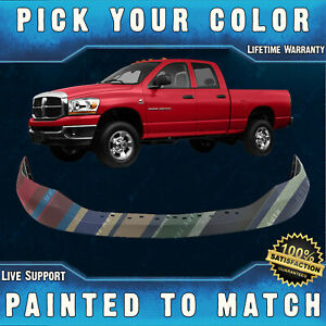New Painted To Match Front Bumper Top Cover Pad For 2006 2009 Dodge Ram Truck