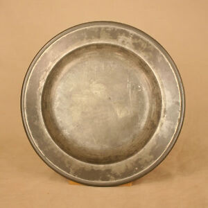 Antique Pewter Charger With Marker S Mark Hallmarked
