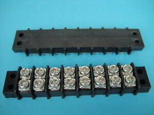 10xdual 8 Position Terminal Barrier Strip 30a 600v 58a