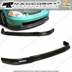 96 97 98 Honda Civic 4 Door Sedan Ek Mugn Style Front Bumper Pu Lip Flexible