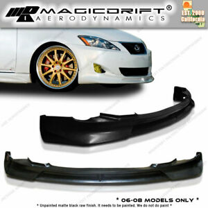 Lexus Is250 Is350 06 07 08 Polyurethane Front Lip Vip Chin Spoiler Vip Body Kit