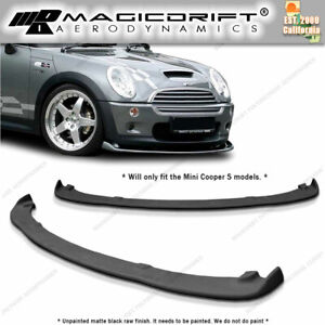 Mini Cooper S 02 03 04 05 Polyurethane Front Bumper Lip Spoiler Body Kit Black