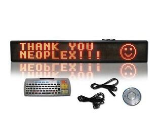 6 H X 40 W Programmable Scrolling Red 2 Line Remote Led Message Window Sign