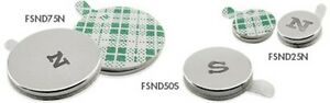 Neodymium Disc Magnets With Adhesive On One Side 50 Pcs 0 375 Dia X 0 06 Thick