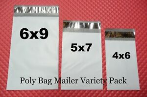 30 Poly Bag Postal Envelope 3 Small Size Variety Self sealing Shipping Mailers