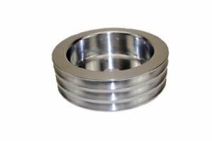 Sbc Chevy 283 350 Polished Aluminum Swp Triple Groove Crankshaft Pulley