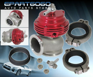 35mm 38mm Jdm Red Silver Turbo Boost Manifold Mount V Band External Waste Gate