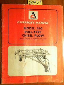 Allis chalmers Jeoffroy 410 Pull type Chisel Plow Owner s Operator s Manual 4 69