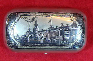 Russian Imperial 1880 Cigarette Case Holder Silver Marked 84 With Master Marks