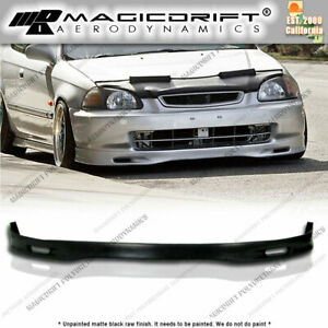 Aftermarket For 96 98 Honda Civic Ek Jdm Front Bumper Pu Lip Urethane Spoon Spn
