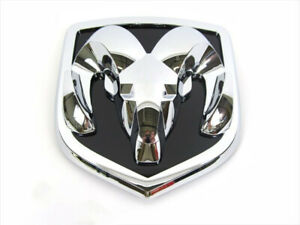 2006 2012 Dodge Ram 1500 With Chrome Grille Rams Head Emblem badge Oem New Mopar