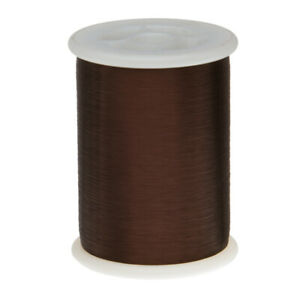 43 Awg Gauge Plain Enamel Copper Magnet Wire 8oz 33046 0 0024 105c Brown