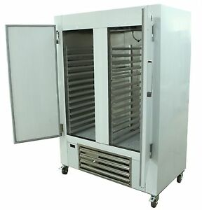 New Cooltech 48 w Stainless Steel 2 door Reach in Cooler With 3 h Baker s Rack