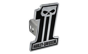 Harley Davidson Number 1 Black Skull Trailer Tow Hitch Cover Plug