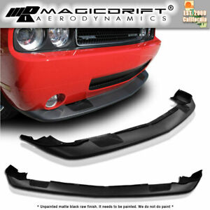 08 09 10 Dodge Challenger Srt 8 Style Front Lower Chin Spoiler Air Dam Lip
