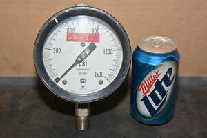U s gauge Co usg 1 500 Psi Pressure Gauge made In Usa Inv 12838