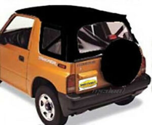 Smittybilt Denim Black Oe Style Soft Top For 86 94 Suzuki Sidekick Geo Tracker