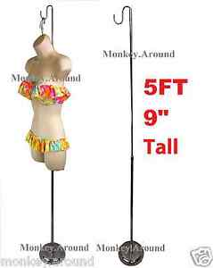 Premium 5 Ft 9 Adjustable Metal Stand Use To Display Mannequin Half Form Torso