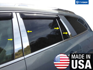 Tyger For 2007 2017 Buick Enclave 8pc Stainless Steel Chrome Pillar Post Trim