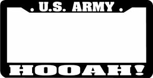 Us Army Hooah License Plate Frame
