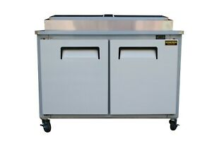 48 New Us madetwo 2 Door Refrigerated Pizza Salad Prep Table Restaurant