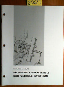 Caterpillar 988 Vehicle Systems Disassembly Assembly Service Manual Reg01119 72