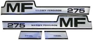Massey Ferguson Diesel Mf 275 Hood Decal Set