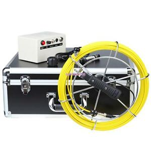 30m 7 Hd Lcd Drain Sewer Pipe Inspection Camera Industrial Video Endoscope