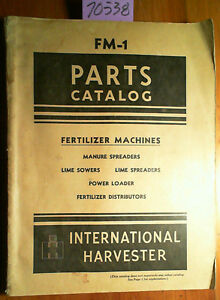 Ih International Harvester Mccormick Deering Fertilizer Machine Manual Fm 1 9 47