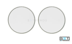 2 Pc Round 3 Silver Stick On Blind Spot Convex Wide Angle Mirrors Car Truck Suv