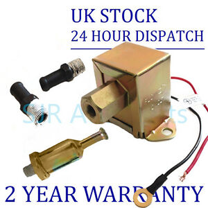 Universal 12v Fuel Pump 2x Fuel Unions In line Fuel Filter fpu
