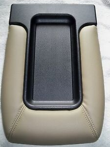 Center Console Storage Top Lid Tan Beige 03 07 Chevy Silverado Sierra Tahoe