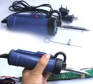 30w Ac 220v Automatic Electric Vacuum Solder Sucker Desoldering Pump Iron Gun